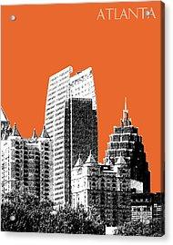 Atlanta Skyline 2 - Coral Acrylic Print by DB Artist
