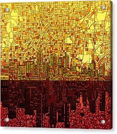 Atlanta Skyline Abstract 3 Acrylic Print