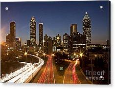 Atlanta Skyline - Jackson St Bridge Acrylic Print