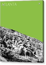 Atlanta Stone Mountain Georgia - Apple Green Acrylic Print by DB Artist