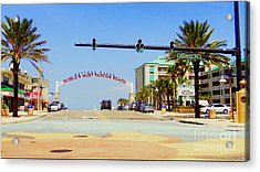 Atlantic Avenue In Daytona Acrylic Print