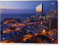 Atlantic City At Dawn Acrylic Print