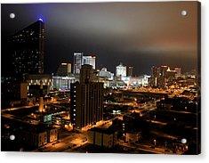 Atlantic City At Night Acrylic Print
