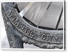 Atlantic City Bench Acrylic Print