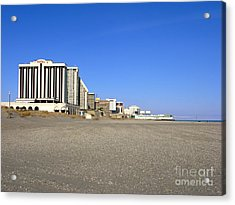 Atlantic City New Jersey Acrylic Print by Olivier Le Queinec