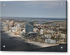 Atlantic City Poster Acrylic Print