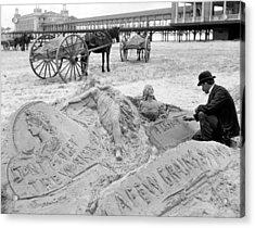 Atlantic City The Sandman Acrylic Print by Granger