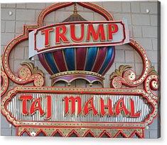 Atlantic City - Trump Taj Mahal Casino - 12121 Acrylic Print by DC Photographer