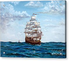 Atlantic Crossing  Acrylic Print by Lee Piper