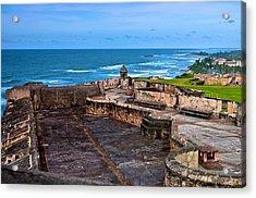 Acrylic Print featuring the photograph Atlantic Ocean From Fort San Cristobal by Ricardo J Ruiz de Porras