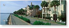Atlantic Ocean With Historic Homes Acrylic Print by Panoramic Images