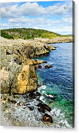 Atlantic Shoreline Acrylic Print by Donald Fink