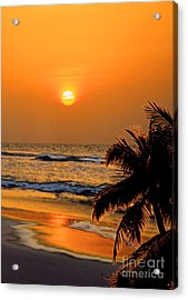 Atlantic Sun Rising Acrylic Print by Kathy Baccari