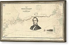 Atlantic Telegraph And Cyrus Field Acrylic Print by Library Of Congress, Geography And Map Division