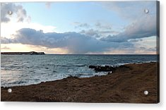 Atlantic Winter Afternoon  Acrylic Print by Bozena Zajaczkowska