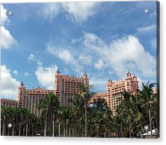 Atlantis Resort At Paradise Island Acrylic Print by Teresa Schomig