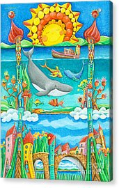 Atlantis Acrylic Print by Sonja Mengkowski