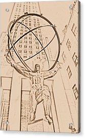 Atlas In New York City Acrylic Print