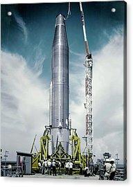 Atlas Missile On Launchpad Acrylic Print