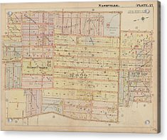 Atlas Of The City Of Nashville Tennessee Belmont Neighborhood 1908 Plate 27a Acrylic Print by Cody Cookston