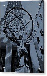 Atlas Rockefeller Center Poster Acrylic Print