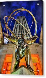 Atlas Statue At Rockefeller Center Acrylic Print by Randy Aveille