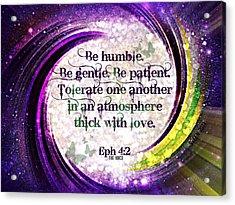 Atmosphere Of Love Ephesians 4 2 Acrylic Print