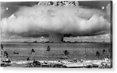Atomic Bomb Test Acrylic Print by Mountain Dreams
