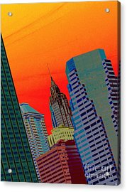 Acrylic Print featuring the photograph Atomic Skyline by Andy Heavens