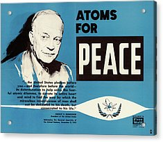 Atoms For Peace Speech Acrylic Print