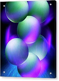 Atoms Acrylic Print by Richard Kail