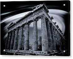 Acrylic Print featuring the photograph Atop The Acropolis by Micah Goff