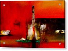 Atracando Acrylic Print by Thelma Zambrano