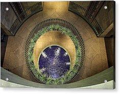 Atrium Wishing Well Acrylic Print by Lynn Palmer