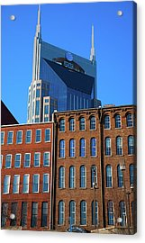 At&t Building And Historic Red Brick Acrylic Print