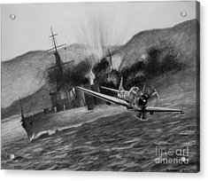 Acrylic Print featuring the drawing Attack On The Yura by Stephen Roberson