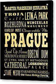 Attraction And Famous Places Of Prague Czech Republic Acrylic Print