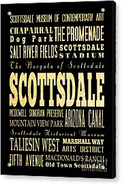 Attraction And Famous Places Of Scottsdale Georgia Acrylic Print by Joy House Studio