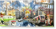 Atx Explosion Acrylic Print by Andrew Nourse
