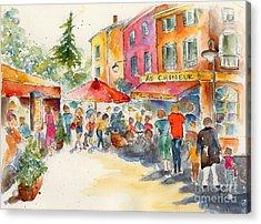 Au Chineur Acrylic Print by Pat Katz
