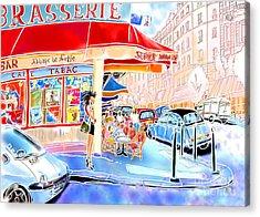 Au Coin De La Rue  Acrylic Print