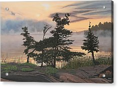 Auburn Evening Acrylic Print by Kenneth M  Kirsch