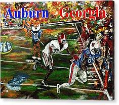 Auburn Georgia Football  Acrylic Print by Mark Moore