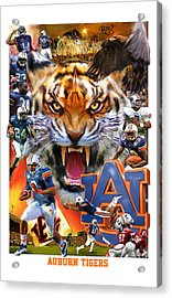 Auburn Tigers Acrylic Print by Mark Spears