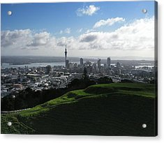 Auckland With Mt. Eden Acrylic Print by David and Mandy