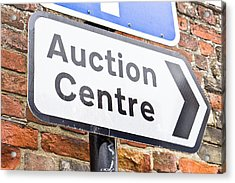 Auction Centre Acrylic Print by Tom Gowanlock