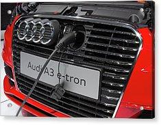 Audi A-3 E-tron Electric Car Acrylic Print by Jim West