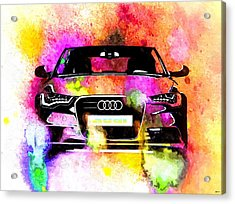 Audi A6 Avant Watercolor Acrylic Print by Daniel Janda