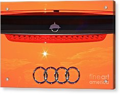 Acrylic Print featuring the photograph Audi Orange by Linda Bianic