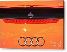 Audi Orange Acrylic Print by Linda Bianic